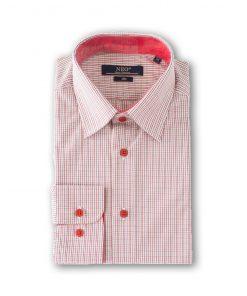 Camasa barbati slim maneca lunga - Fred caro rosu 6144