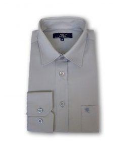 Camasa uni barbati tipar normal cu maneca lunga gri 134208