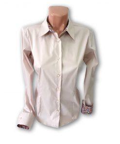 Bluza dama Andrada cu maneca lunga bej 130154