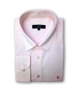 Camasa barbati uni cu maneca lunga roz 4roz