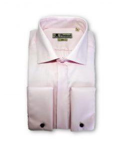 Camasa barbati uni cu textura diagonala roz 115853
