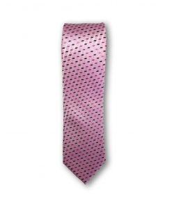 Cravata clasica motiv geometric 03 roz 123824